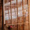 Large window for seating chart. vintage window from vintage rentals. Vintage, industrial wedding inspiration.